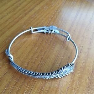 Alex & Ani Peacock Feather Bracelet