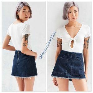 BDG Blue Patch Pocket Denim Mini Skirt