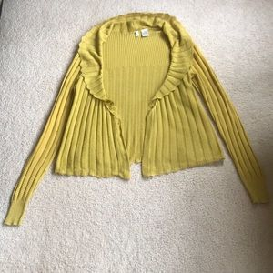 MOTH at Anthropologie cardigan sweater - Yellow
