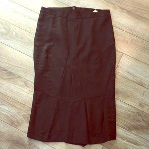 Hache Midi Pencil Skirt