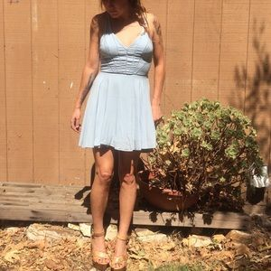 Silence and Noise baby blue dress Size 4