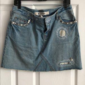 Gap Embellished Denim mini skirt