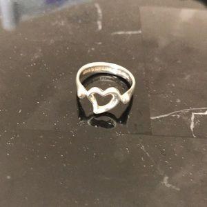 Tiffany & Co Sterling Silver open heart ring
