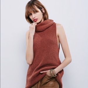 Free People turtleneck chunky knit
