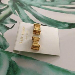 ♠️ Kate Spade gold bow earrings ♠️