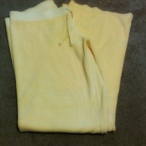 Juicy Couture yellow terry pants