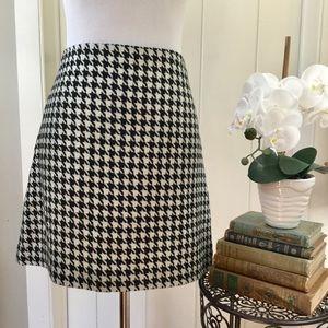 J CREW Black & White Houndstooth Pencil Skirt