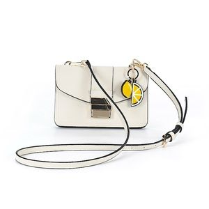 ZARA Leather White Gold Crossbody/Clutch Bag Purse