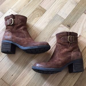 Born Gunn Ankle Boots in Rust Brown