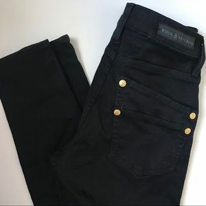 Rock & Republic Kashmere jet black skinny jeans 6