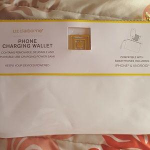 Liz Claiborne phone charging wallet.