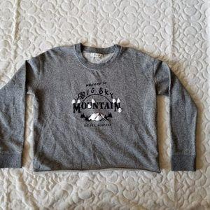 Madewell big sky cutoff sweatshirt Size XXS