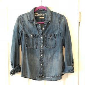 Madewell jean Button up shirt