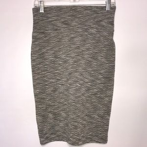 LuLaroe Quilted Gray Cassie Pencil Skirt XS