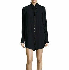 Free people NEW Lieutenant Midi Shirt Dresssz M