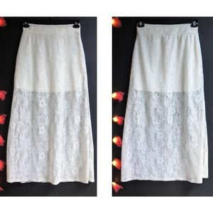 Lilly White Lace Maxi Skirt