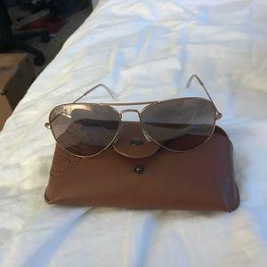 Rose gold Ray-Ban Sunglasses