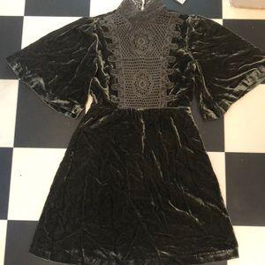 Romeo & Juliet Couture Velvet Cape dress