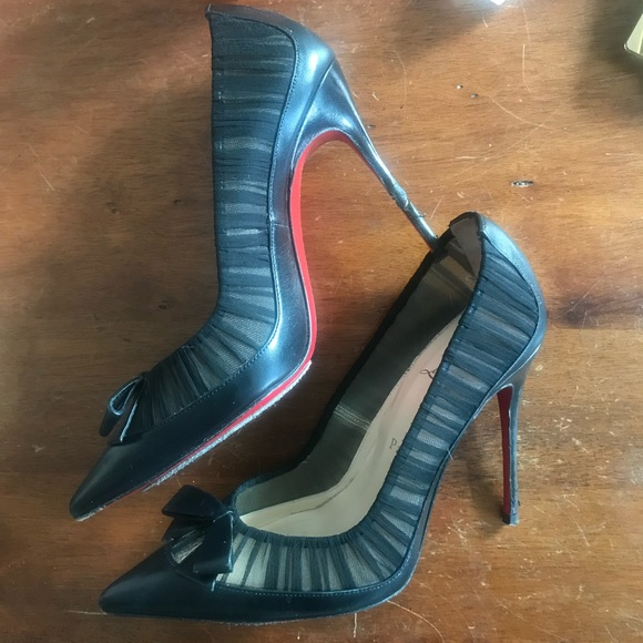 Christian Louboutin Shoes - Christian Louboutin Comtesse leather chiffon pump