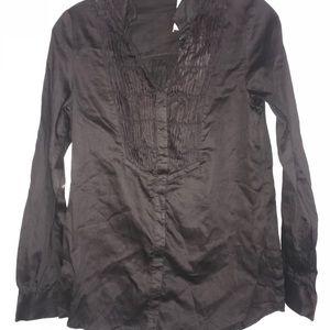 Lost April Women's Tux Button Front Shirt