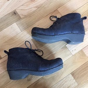 Dansko lace up ankle booties