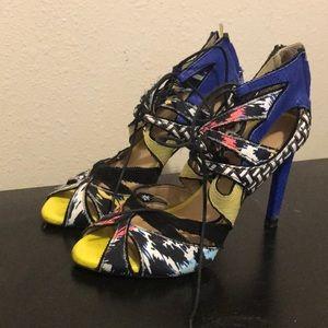 printed zara sandals