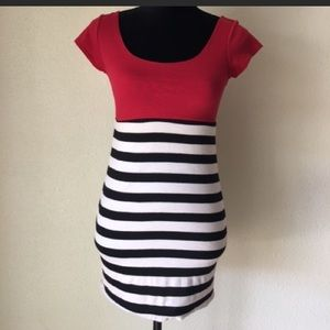 Red striped dres