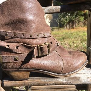 Steve Madden Ankle Boots Distressed Brown Size 8