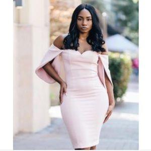 Blush Off the Shoulder Dress 😍