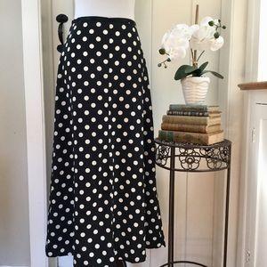 ESPRIT Black & White Polka Dot Maxi Skirt