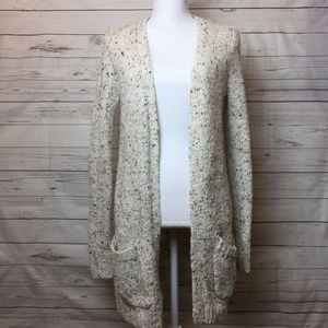 Maison Jules Open Knit Cardigan Speckled