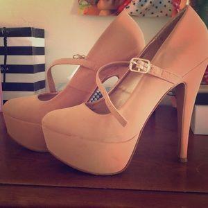 Peachy Beige high heels