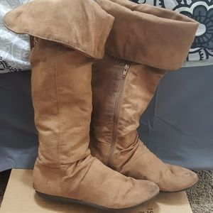 H&M Above the knee suede boots
