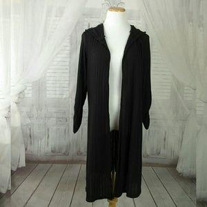 Torrid Long Ribbed Hooded Stretch Cardigan
