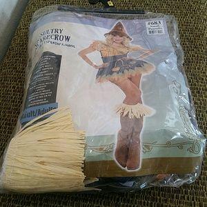 Women's Sultry Scarecrow Halloween Costume