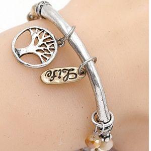 Tree of life stretch charm bracelet. NWT.