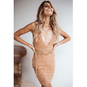 NWT Sabo Skirt Imani Suede Cutout dress XS