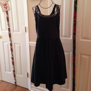 Cynthia Rowley sleeveless black studded dress