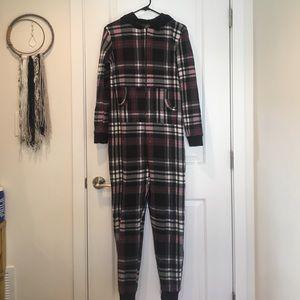 Flannel onesie.