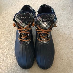 Sperry Plaid Duck Boots