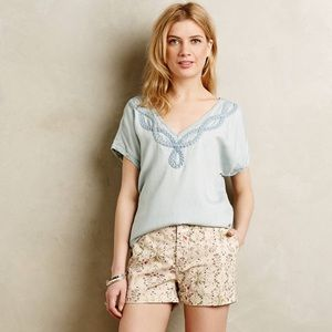 Holding Horses Chambray Braided Top