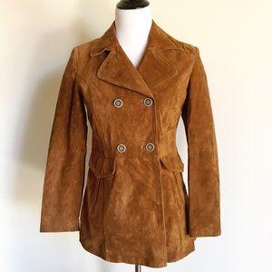 🐴 Zara Basic Faux Suede Jacket Size M