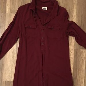 Old navy maroon polo shirt button down dress