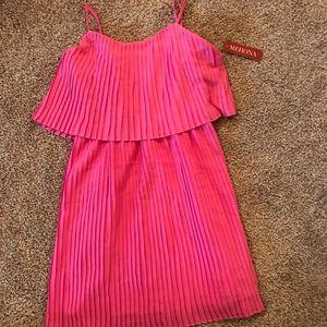 Pleaded Pink Dress