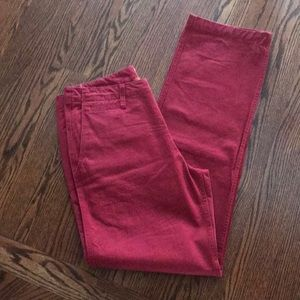Men's Dockers Red NWT 32x34