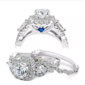 Jewelry - NWT Round Cz Wedding Set Size 7