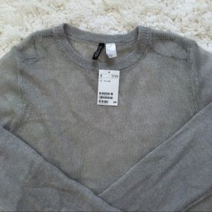 H&M Lightweight Cropped Sweater