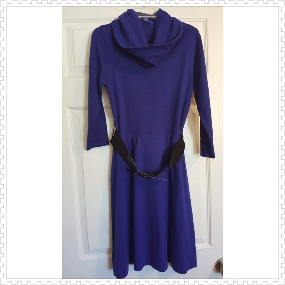 57% off AB Studio Sweaters - Royal blue cowl neck sweater dress ...