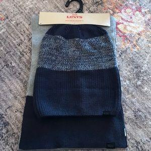 Levi's men hat and scarf set