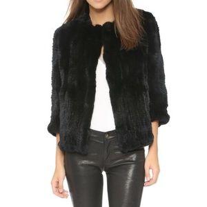 Rachel Zoe rabbit fur coat